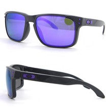 New Oakley Toxic Blast Collection Holbrook Dark Grey w/Violet Iridium OO9102-76 - $244.95