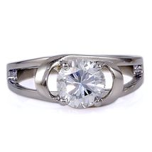 Infinite Love: 1.6ct Russian Ice on Fire CZ Promise Engagement Ring 316 Steel - $18.00