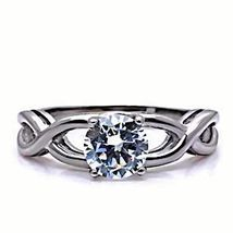 Infinity Stainless Steel 1.25c Russian Ice on Fire CZ Promise Friendship Ring - $16.00