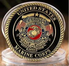 USMC Semper Fidelis The Dog Of War Challenge Coin - $11.87