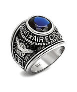 Mens 316L Steel US Air Force Commemorative Military Service Aviators Rin... - $22.00