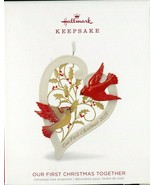 2018 Hallmark Keepsake Ornament - OUR FIRST CHRISTMAS TOGETHER - Porcela... - $4.00