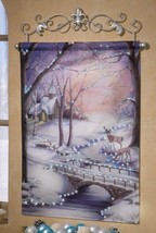 Print Art Winter Scene Wall Poster Canvas Fiber Optic Indoor Home Decora... - $33.61