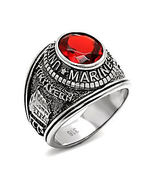 Mens US Marine Corps 316L Steel Commemorative Ring Tun Tavern Iwo Jima s... - $23.00