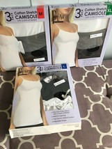 Felina Ladies 3 Pack Cotton Camisole White/Black/Gray. Pick Your Size #326 - $9.99