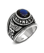 Mens US Navy Stainless Steel Commemorative Gift Ring Eagles Ship Anchor ... - $23.00