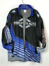 Large Princess Auto Racing Thermo Full Zipper Jacket Blue Black - $34.65