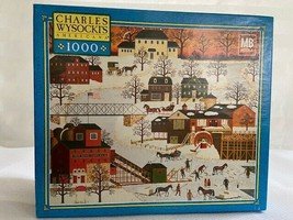 Charles Wysocki 1000 Piece Jigsaw Puzzle Game Cider Brook Farms Ice Company - $37.13