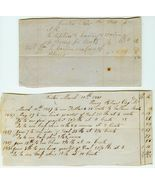 19h c. PRESTON, Conn.  Account Receipts for HID... - $12.00