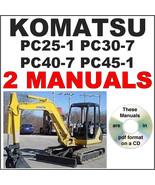 KOMATSU PC25 PC30 PC40 PC45 SERVICE MANUAL, OPERATION MAINTENANCE -2- MA... - $24.95