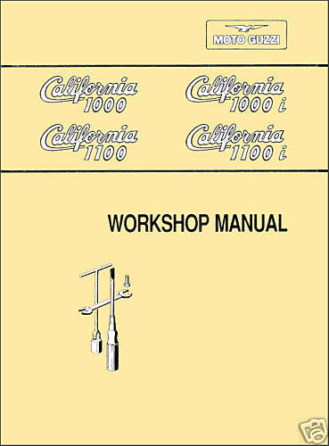 Moto Guzzi California 1000 1000i 1100 1100i SERVICE Shop MANUAL + BONUS CD