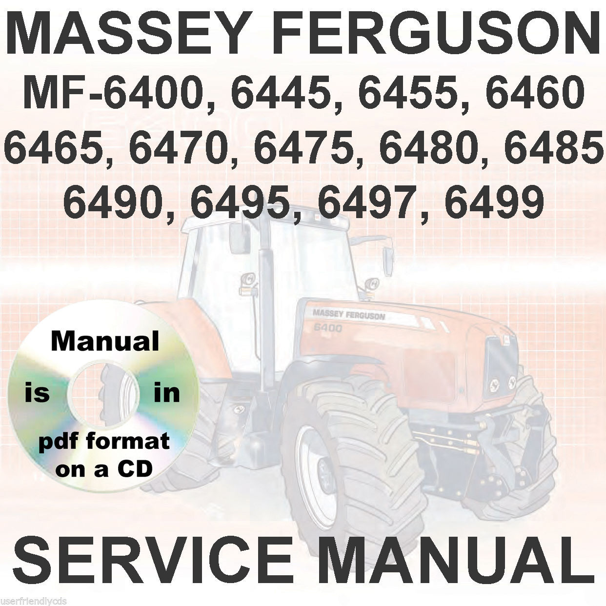 Massey Ferguson Tractors Service Manual and 21 similar items. 57