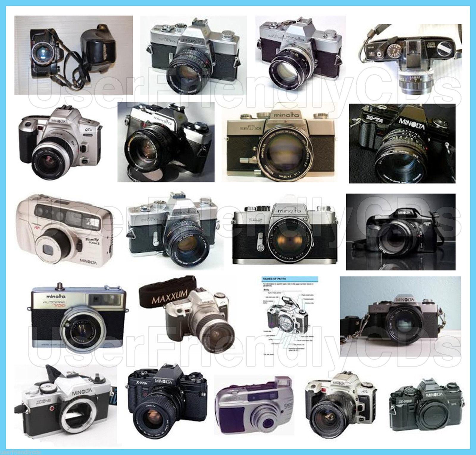 HUGE MINOLTA Classic 35 mm 35mm cameras 35mm CAMERA Manual MANUALS!!