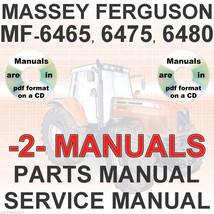 Massey Ferguson MF6465 MF 6465 Tractor SERVICE & PARTS Manual -2- MANUALS CD image 1