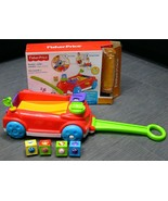 FISHER PRICE Roller Blocks Rockin Wagon TODDLER Pull Toy Stand Walk Bloc... - $24.99