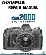 Olympus OM-2000 OM2000 SERVICE MANUAL & PARTS & OWNER CLASSIC CAMERA MAN... - $13.17