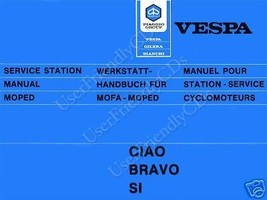 Vespa Ciao Bravo Si SCOOTER MOPEDS Repair SERVICE & PARTS Manual -2- MANUALS CD image 1