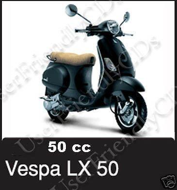 VESPA LX 4T LX504T Scooter IPC PARTS Cat SERVICE Repair MANUAL -2- MANUALS CD