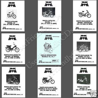 MOTOBECANE 40 50 50V 7 SERVICE Manual PARTS OWNER -13- MANUALS