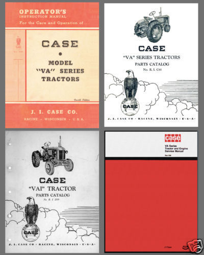 Case VA Series Tractor Engine SERVICE & PARTS Catalogs & OPERATOR -6- Manual CD