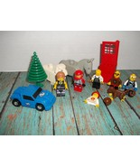 Lego Lot Mini Figs Monkey Pirate Tree Door Cardio Overalls Car Shell Bri... - $12.00