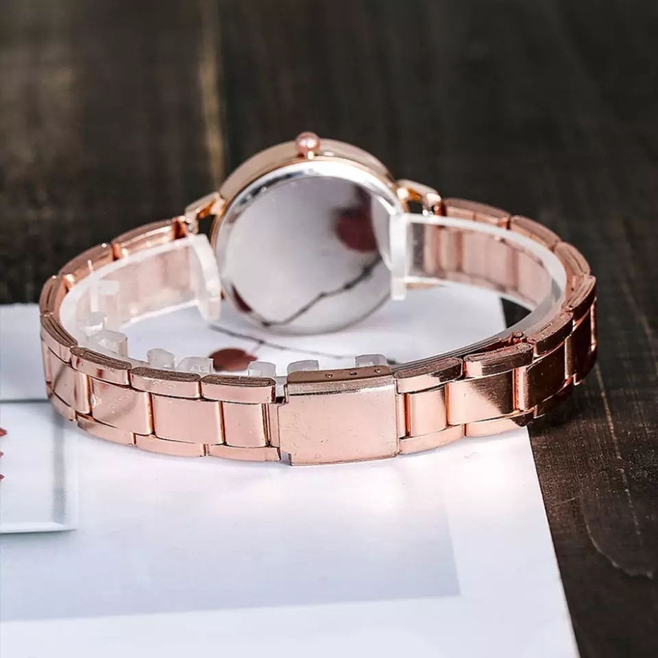 Womens Watches Top Brand Fashion Women Crystal Stainless Steel Analog Quartz