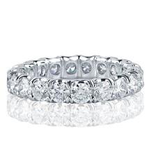 3 Carat F-VS Round Cut Diamond Full Eternity Wedding Band Ring 18k White... - $4,122.51