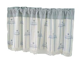 PANDA SUPERSTORE Retro Cloth Privacy Hanging Short Cafe Curtain Valance for Kitc