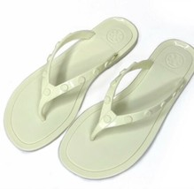 Tory Burch Studded Jelly Flip Flops Sandals Size 7 White Cream - $79.10