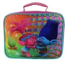 Brand New DreamWorksTrolls 7.5 Rectangular Lunch Bag with Doll