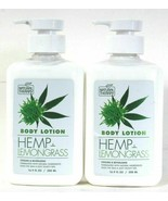 (2 Pack) Natural Therapy Hemp Lemongrass Cooling Revitalize Body Lotion ... - $23.90