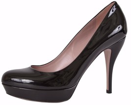 NEW Gucci 309995 $650 Black Lisbeth Patent Leather High Heel Platform Pu... - $251.40