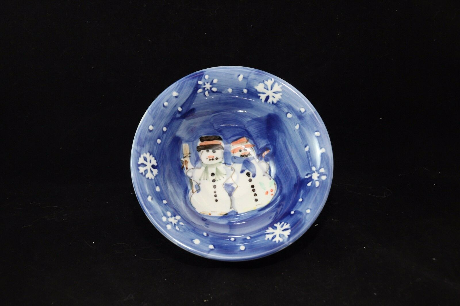 Tabletops Unlimited Snow Couple Soup Cereal Bowl Christmas