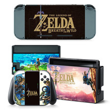 Nintendo Switch Zelda Console & Joy-Con Controller Vinyl Skin Decal Wrap Sticker - $12.86