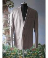 Calvin Klein Men Beige Blazer / Suit Jacket Cotton & Linen Size XL New     - $48.51