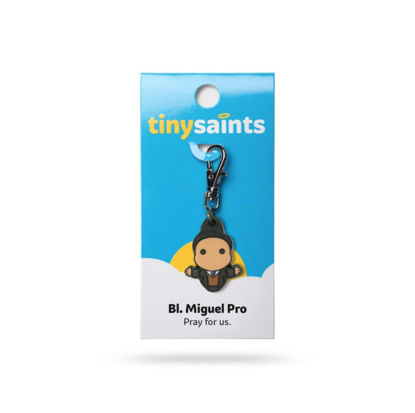 Primary image for Tiny Saints Blessed Miguel Pro Charm for Purses, Backpacks, Great Gift!