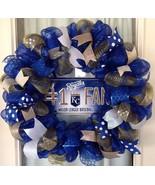 Mlb Kansas City Royals Deco Mesh Wreath - Royals Mesh Wreath -  KC Royal... - $65.00