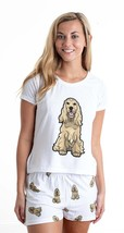 Dog Cocker Spaniel pajama set with shorts for women - $30.00