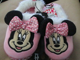 Toddler Girls Pink Minnie Mouse with Fur Slipper Brand New - $13.50