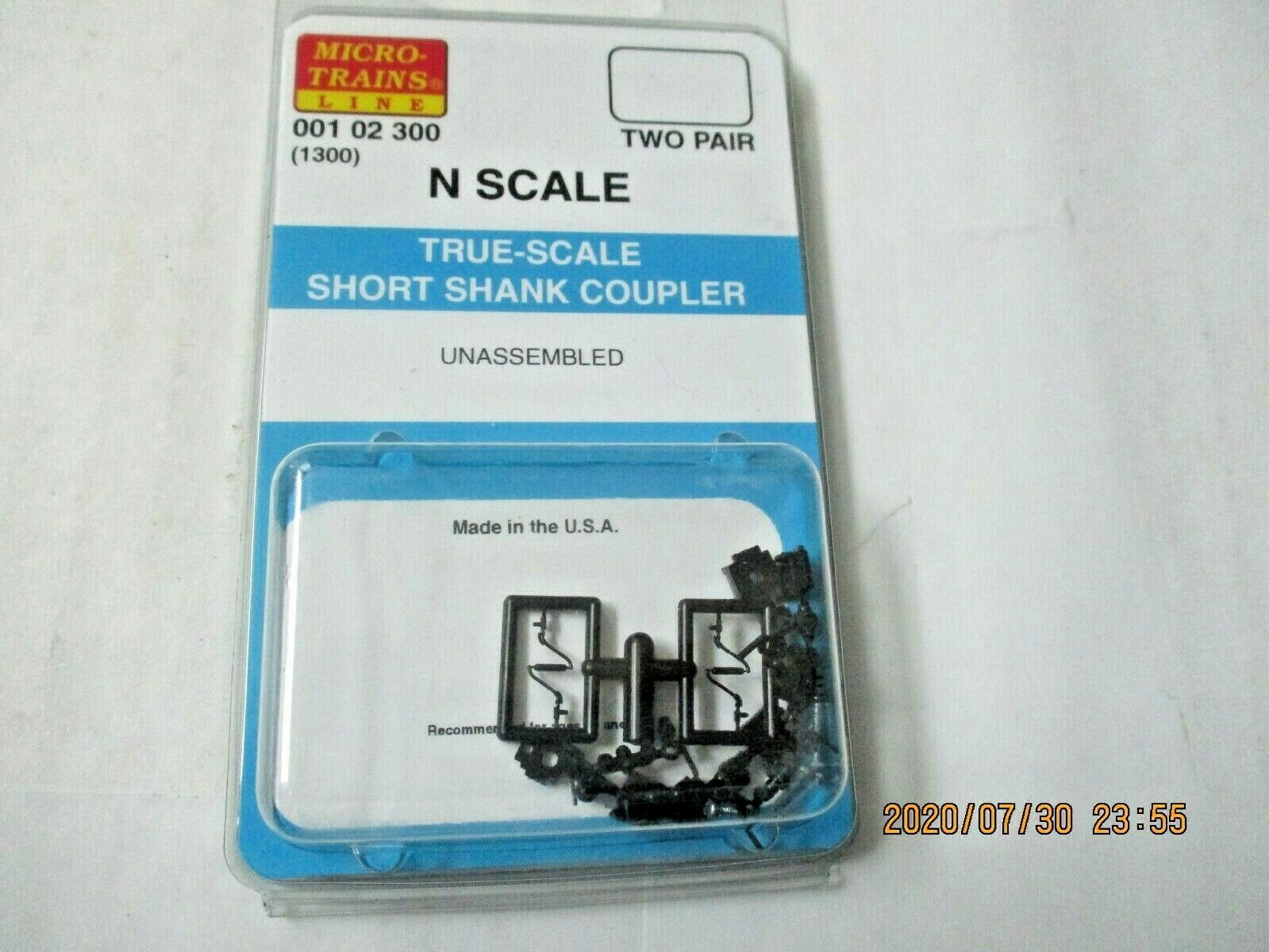 Micro-Trains Stock #00102300 True -Scale Short Shank Coupler  (1300) (N)