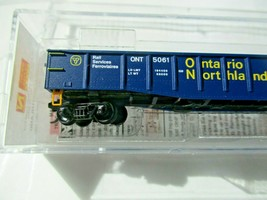 Micro-Trains # 10500191 Ontario Northland 50' Steel Gondola, 14 Panel N-Scale image 2