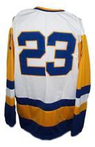 Custom Name # Saskatoon Blades Retro Hockey Jersey New White Any Size image 2