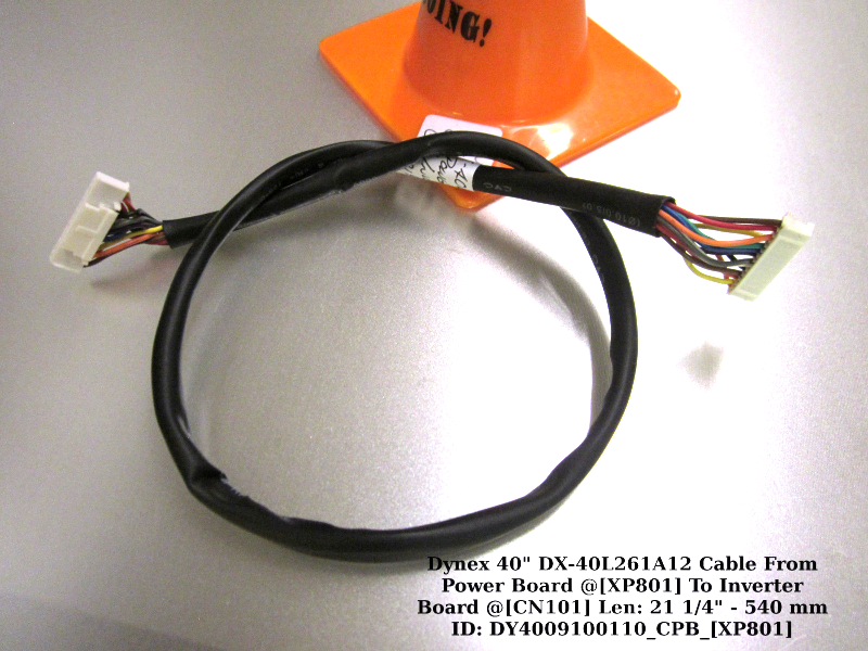 "Primary image for Dynex 40"" DX-40L261A12 Cable From Power Board @[XP801] To Inverter Board @[CN101"