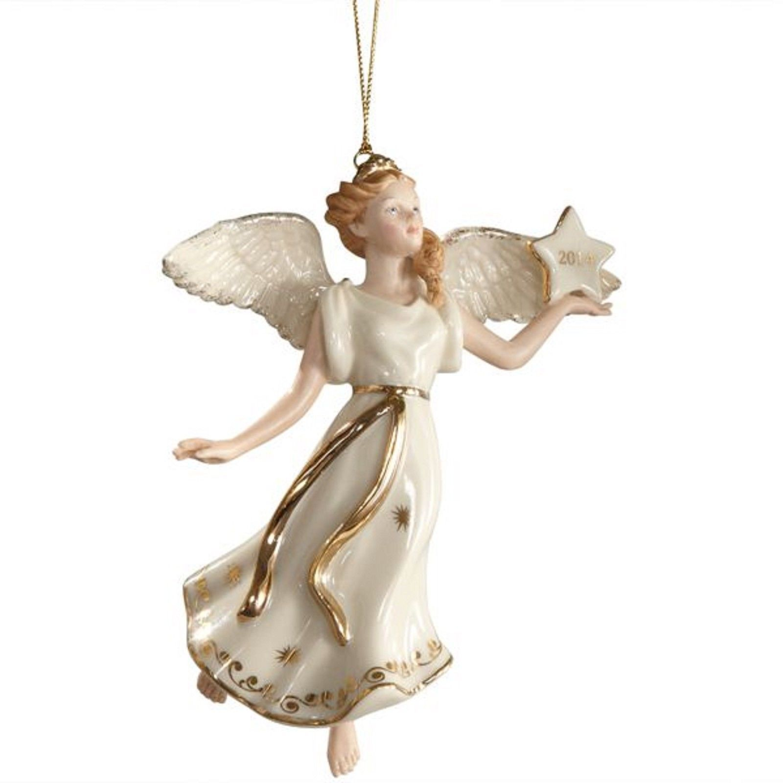 Lenox 2014 Angel Figurine Ornament Annual Wings of Glory Christmas Blonde NEW