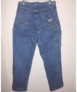 WRANGLER Carpenter Cargo Blue Jeans Sz 31 x 32 Men's Medium Wash Straigh... - $29.69