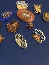 Vintage 70s Lapel Pins- Stick Pin Badges/Pin Backs- Metal/Plastic image 4