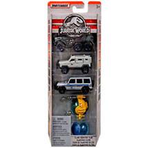 Hot Wheels Jurassic World Die Cast Pack Of 5 Island Transport Team *US S... - $12.86