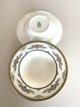 """Minton Stanwood Gold Trim Floral Rimmed Soup Bowl 8-1/8"""" Set Of 2 - $113.84"""