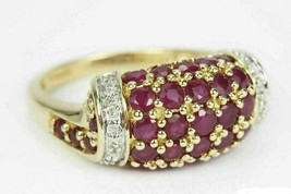 2 Ct Ruby & Diamond Cluster Engagement Women's Ring In 14k White Gold Over  - $76.91