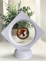 """3D Floating 11thArmored Calvary Regiment Allons """"Lets Go"""" Challenge Coin US Army - $20.88"""